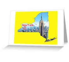 New York Map with State Nickname:  The Empire State Greeting Card