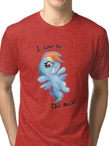 Rainbow Dash Loves You! Tri-blend T-Shirt