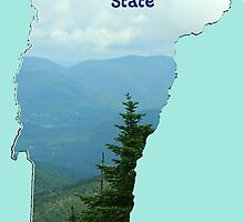 Vermont Map with State Nickname:  The Green Mountain State by Havocgirl