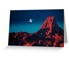 Space art landscape: Loneliness Greeting Card