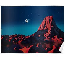 Space art landscape: Loneliness Poster