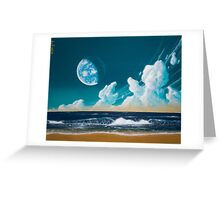 Terraformed moon beach: Mare Tranquillitatis Greeting Card