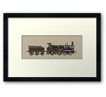 train brown Framed Print