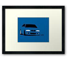 Simple E46 mid-corner Framed Print
