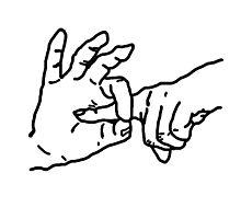 Fingerbang - Funny, erotic art, fun t-shirts, kinky drawing, popular humor Photographic Print