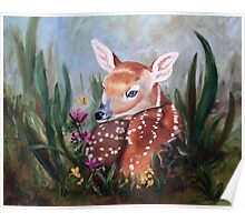 Fawn Innocence Original Oil Painting Poster
