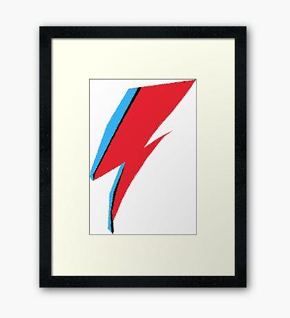 David Bowie / Ziggy Stardust Makeup Framed Print