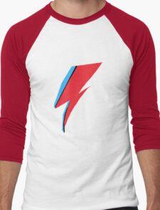 David Bowie / Ziggy Stardust Makeup Men's Baseball ¾ T-Shirt