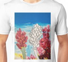Alpinia purpurata – Red Ginger Flower, Nature in Bogota, Colombia  Unisex T-Shirt