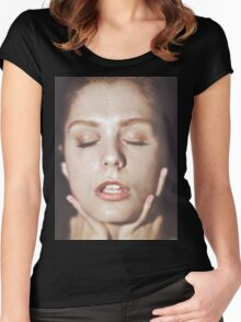 Pure Love - cute girl, erotic fine art, sexy t-shirts Women's Fitted Scoop T-Shirt
