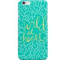 Wild at Heart – Turquoise iPhone Case/Skin