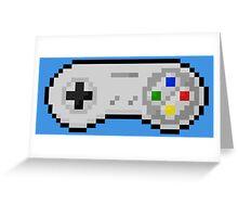 super nintendo joystick retro Greeting Card
