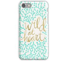 Wild at Heart – Turquoise & Gold iPhone Case/Skin