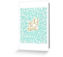 Wild at Heart – Turquoise & Gold Greeting Card