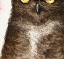 Spring Owl Sticker