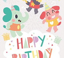 Happy Birthday Party Animals by Claire Stamper