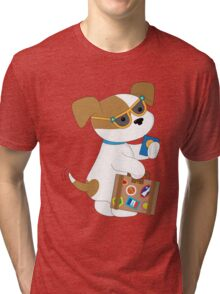 Cute Puppy Travel Tri-blend T-Shirt