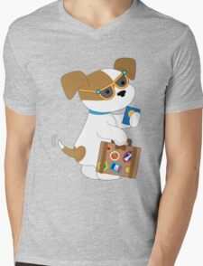 Cute Puppy Travel Mens V-Neck T-Shirt