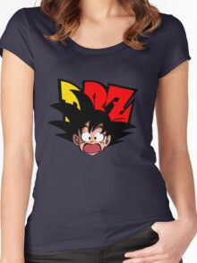 SANGOKU - SURPRISED Women's Fitted Scoop T-Shirt
