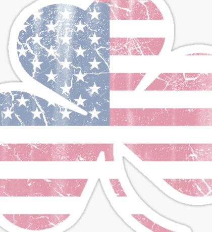 Irish American Flag Shamrock Sticker