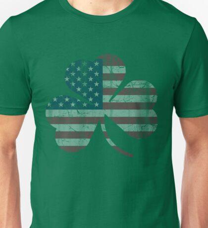 Irish American Flag Shamrock Unisex T-Shirt