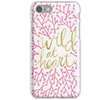 Wild at Heart – Pink & Gold iPhone Case/Skin