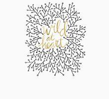 Wild at Heart – Gold & Black on White Unisex T-Shirt