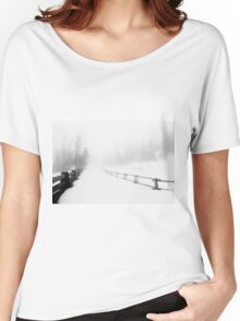 Snowy Road  Women's Relaxed Fit T-Shirt