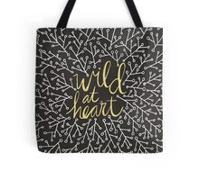 Wild at Heart – Gold on Black Tote Bag