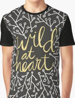 Wild at Heart – Gold on Black Graphic T-Shirt