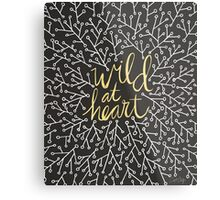Wild at Heart – Gold on Black Metal Print