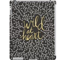 Wild at Heart – Gold on Black iPad Case/Skin