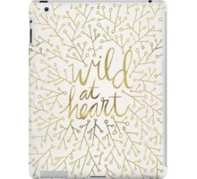 Wild at Heart – Gold on White iPad Case/Skin
