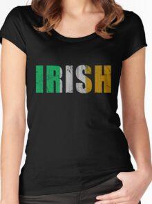 Irish Flag of Ireland Women's Fitted Scoop T-Shirt