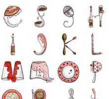 Spills & Spoons Alphabet Sticker