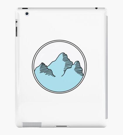 blue mountains in circle iPad Case/Skin