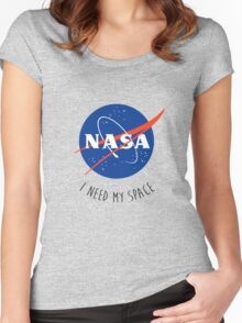I Need My Space Colour Women's Fitted Scoop T-Shirt