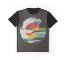 Digital Sun Horizon  Graphic T-Shirt