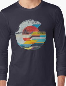 Digital Sun Horizon  Long Sleeve T-Shirt