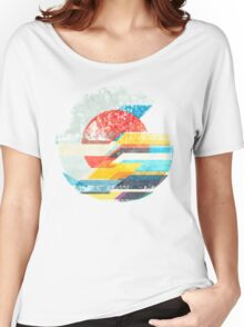 Digital Sun Horizon  Women's Relaxed Fit T-Shirt