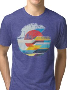 Digital Sun Horizon  Tri-blend T-Shirt