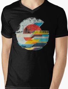 Digital Sun Horizon  Mens V-Neck T-Shirt