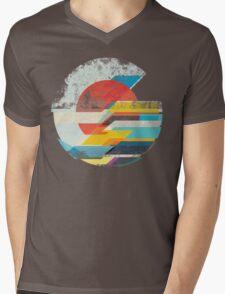 Digital Sun Horizon  Mens V-Neck T-Shirt