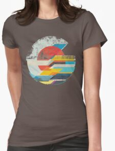 Digital Sun Horizon  Womens Fitted T-Shirt