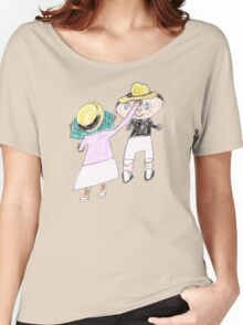 Your hat is crooked!! let me fix that. :D - ABC '14 Women's Relaxed Fit T-Shirt