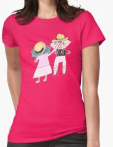Your hat is crooked!! let me fix that. :D - ABC '14 Womens Fitted T-Shirt