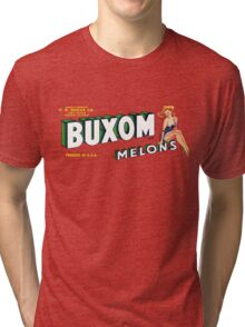 How Buxom are Your Melons? (now in any color!) Tri-blend T-Shirt