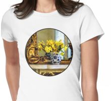 Daffodils on Mantelpiece Womens Fitted T-Shirt