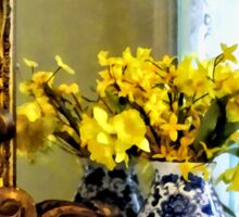 Daffodils on Mantelpiece Sticker