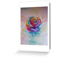 Chakra Rose Greeting Card